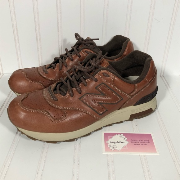 new balance 1400 brown leather